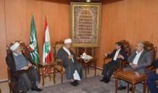 عبد الامير قبلان استقبل المستشار الثقافي الايراني الجديد