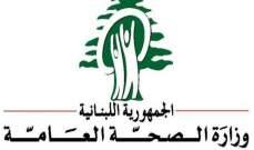 وزارة الصحة: 20 حالة ايجابية على متن رحلات إضافية وصلت إلى بيروت