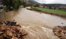 النشرة: إرتفاع منسوب نهر الليطاني نتيجة تساقط الأمطار