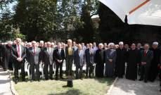 وصول وفد الحزب الاشتراكي الى بيت الدين للقاء الرئيس عون