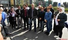 اعتصام لحراك المتعاقدين أمام وزارة التربية