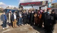 وقفة إحتجاجية في بريتال استنكارا لجريمة قتل مواطن في السفري