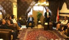 منصور ضو التقى رؤساء الوحدات الإدارية في محافظة الجنوب