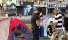 بدء توافد المواطنين إلى دوار العلم في صور للمشاركة بالاعتصام المفتوح