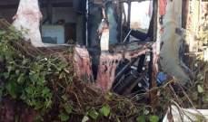 اندلاع حريق في خيمة للنازحين السوريين في خراج بلدة ابل السقي