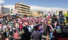 الطرق مقطوعة في البقاع الشمالي والتظاهرات جمعت أهالي عرسال واللبوة