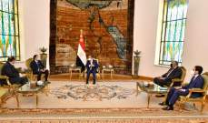 السيسي: لتسوية الخلافات لإخراج لبنان من الحالة التي يعاني منها وندعم الحريري بجهود تشكيل الحكومة