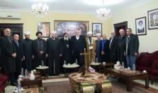 حمدان زار رئيس الكنيسة القبطية الارثوذوكسية مهنئاً بالاعياد