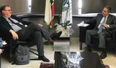 وزني بحث مع دوكان في أهمية انعقاد المؤتمر الدولي لدعم الشعب اللبناني