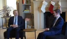 جبران باسيل يلتقي ديفيد هيل بهذه الأثناء في منزله