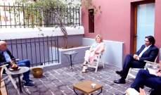 جنبلاط عرض المستجدات مع رئيسة بعثة الإتحاد الأوروبي لمراقبة الإنتخابات