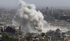 قصف مدفعي على مدينة حرستا في غوطة دمشق الشرقية