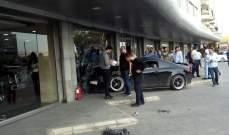 النشرة: اصطدام سيارة بواجهة شركة تجارية بصيدا