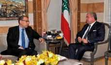 المشنوق استقبل السفير المصري وبحث معه المستجدات