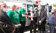 بلدية بعلبك تسلمت سيارة إسعاف تقدمة جمعية ألمانية لمساعدتها بظل جائحة كورونا