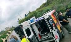 جريحان نتيجة انزلاق شاحنة وانقلابها في الصفرا بكسروان