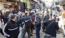قطع الطرقات الداخلية في مخيم البداوي احتجاجا على التقنين