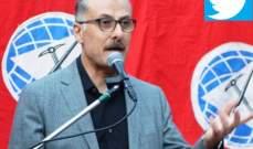 بلال عبد الله: نواجه صفقة القرن بموقف وطني موحد