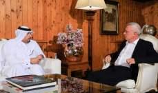 فرنجية بحث مع السفير القطري في لبنان في التطورات الراهنة