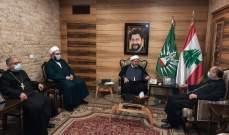 الشيخ عبدالله التقى المطران حداد: لحوار وطني حقيقي يخرجنا من أزمة تشكيل الحكومة