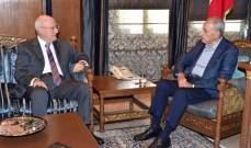 بري استقبل العريضي وامين العام للاتحاد البرلماني العربي