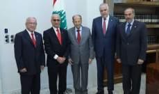 الرئيس عون استقبل حديفة وبنصلي