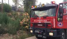 الدفاع المدني يخمد حريقاً في مولد للطاقة الكهربائية في سن الفيل