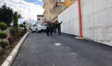 بلدية حارة صيدا انجزت بناء جدار الدعم وصيانة الطريق في منطقة التعمير