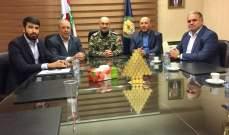 وفد من حماس عرض مع اللواء صليبا أوضاع اللاجئين الفلسطينيين في لبنان