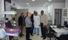 """مكتب شؤون اللاجئين في """"حماس"""" زار مستشفى الراعي في صيدا"""