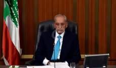 بري تلقى اتصالا من رئيس مجلس الامة الكويتي لشكره على موقفه وموقف البرلمان