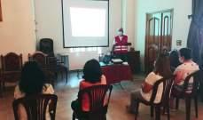 الصليب الأحمر أقام محاضرات توعية حول أهمية لقاحات
