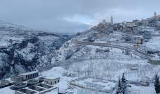 الثلوج غمرت قرى قضاء بشري سماكة الثلوج وصلت الى 70 سنتم
