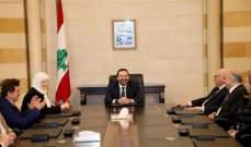 الحريري استقبل مجلس بلدية صيدا بحضور النائب بهية الحريري