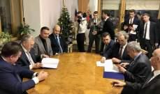 توقيع مذكرة تعاون بين الديمقراطي اللبناني والليبرالي الديمقراطي في روسيا