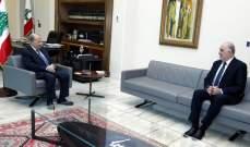 الرئيس عون التقى فهمي وعكر وبقردونيان
