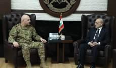"""قائد الجيش التقى أمين عام المجلس الأعلى السوري- اللبناني ورئيس """"جامعة الجنان"""""""