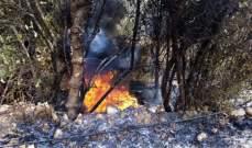 اندلاع  حريق في عبرين والدفاع المدني عمل على اخماده