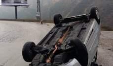 النشرة: تدهور سيارة على طريق عام الخردلي القليعة