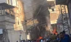 انفجار قرب كنيسة السيدة العذراء بالقامشلي شمال شرق سوريا