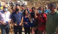 حملة تشجير لضفاف النهر في منطقة الخردلي