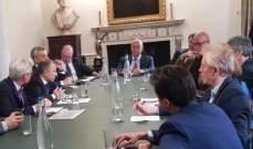 باسيل شارك بنقاشات مع سياسيين وباحثين بريطانيين حول الأوضاع بلبنان والشرق الأوسط