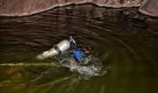 الدفاع المدني يعمل على انتشال جثة مزارع سوري غرق في بركة مياه في سهل بدنايل