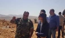 لاسن زارت اللواء التاسع في عرسال وناقشت دعم الاتحاد الأوروبي للجيش
