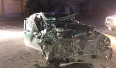 4 جرحى جراء حادث سير على الطريق العام في تمنين الفوقا