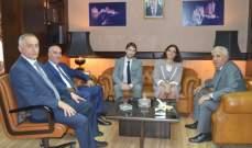 القاضي أحمد حمدان التقى وفدا من محكمة الحسابات الفرنسية