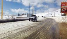 طريق ضهر البيدر سالكة حالياً أمام جميع الآليّات باستثناء الشاحنات