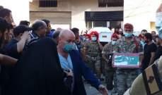 قيادة الجيش وأهالي بلدة الهرمل شيّعت الرقيب الشهيد حمزة اسكندر