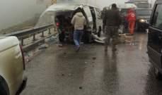 النشرة: مقتل شخص باصطدام سيارة لقوى الامن بأحد الاكشاش على طريق ضهر البيدر