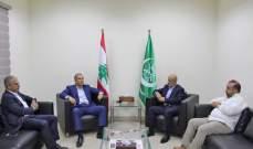 النشرة:مدير فرع مخابرات الجيش في الجنوب التقى وفدا قياديا فلسطينيا
